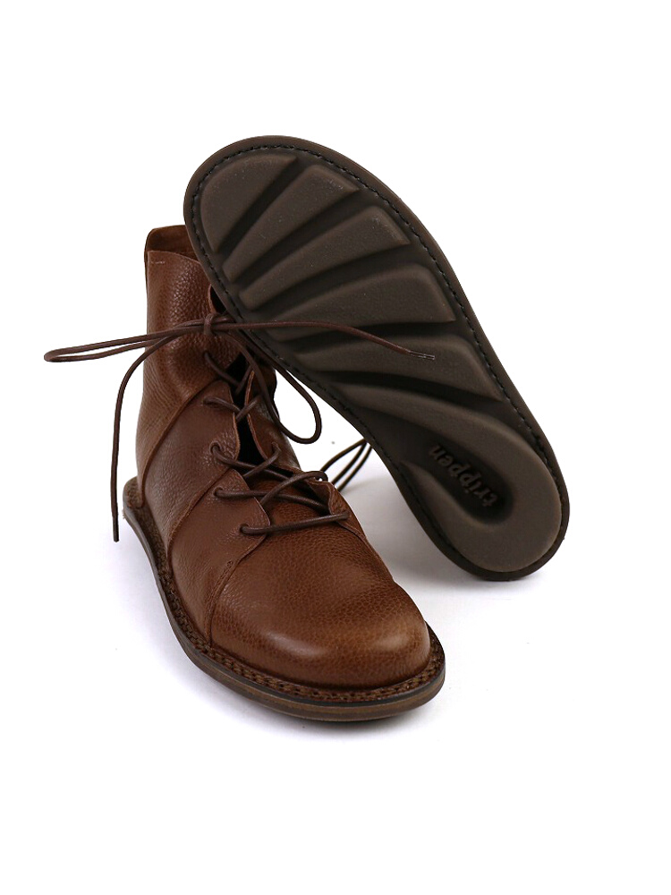 """TRIPPEN (trippen) leather lace-up booties """"NOMAD""""-NOMAD-WAW-0071302"""