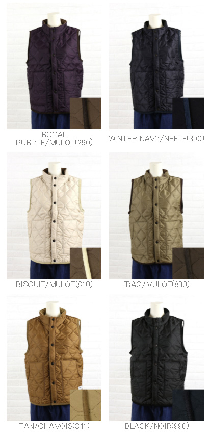 ARMEN (Amen) polyester quilted reversible stand collar vest-NAM9984-0341302