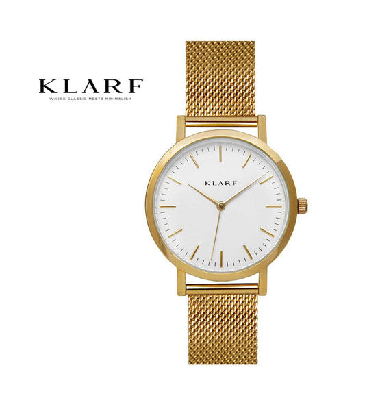 【クラーフ KLARF】メッシュベルト 38mm ラウンドフェイス レディースウォッチ 腕時計・K-1502-3731802【レディース】【1F-W】【last_1】【◎】