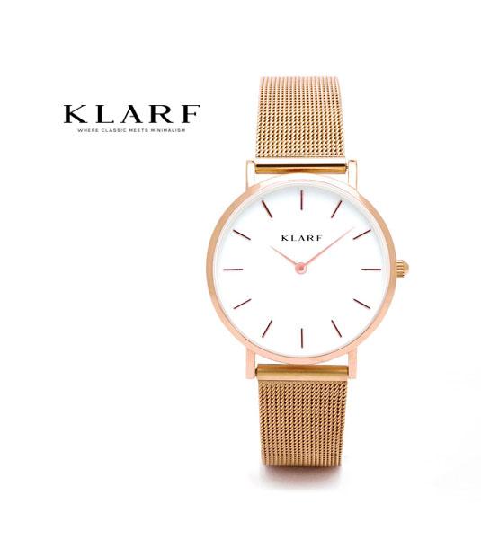 【クラーフ KLARF】メッシュベルト 33mm ラウンドフェイス レディースウォッチ 腕時計・K-1601-3731802【レディース】【1F-W】【◎】