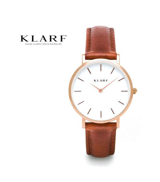 【クーポン利用で30%OFF】【クラーフ KLARF】レザーベルト 33mm ラウンドフェイス レディースウォッチ 腕時計・K-1603-3731802【レディース】【1F-W】【◎】