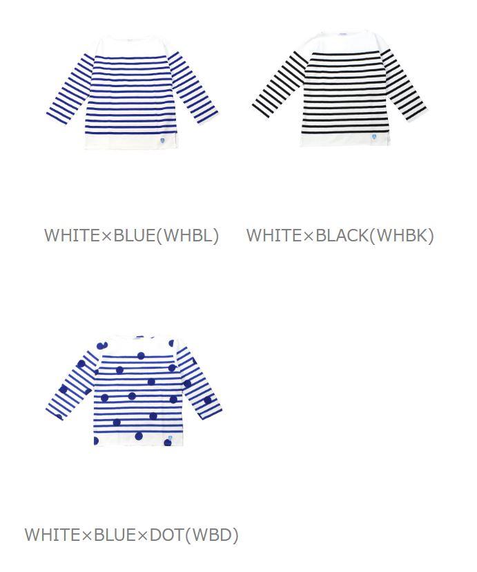 ORCIVAL (オーチバル-オーシバル) cotton long sleeve boat neck ラッセルボーダー t-shirt (regular)-6803-0321302