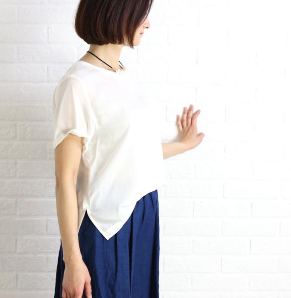 【ハオル HAOLU】キュプラ 半袖 ポケット付き Tシャツ・HA-B048-3301701【レディース】【last_1】