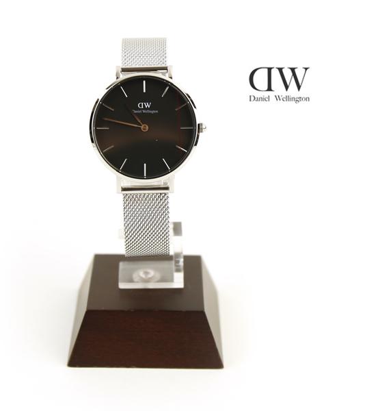 【ダニエル・ウェリントン Daniel Wellington】クラシックブラック ペティット スターリング シルバー ラウンド 時計 腕時計 32mm リストウォッチ・DW00100162-3171802【メンズ】【レディース】【1F-W】
