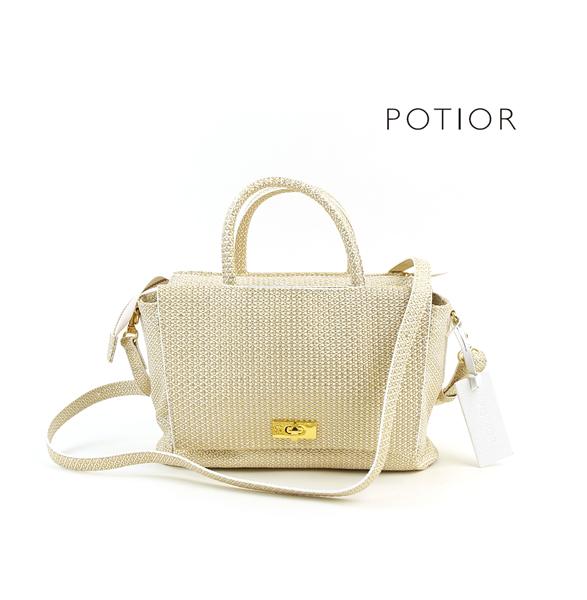 【ポティオール PotioR】レザー 2WAY ミニ ハンドバッグ ショルダーバッグ・AEO-0046-2701701【レディース】【last_1】【◎】