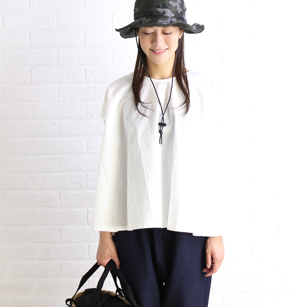 Cotton flare no sleeve reshuffling blouse pullover, DTH-126-1721701