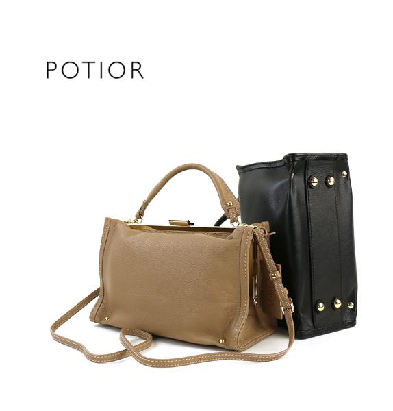 【ポティオール PotioR】やぎ革 がま口 2WAY ミニ ボストンバッグ CORINNE MINI・GO-0080XS-2701702【レディース】【JP】