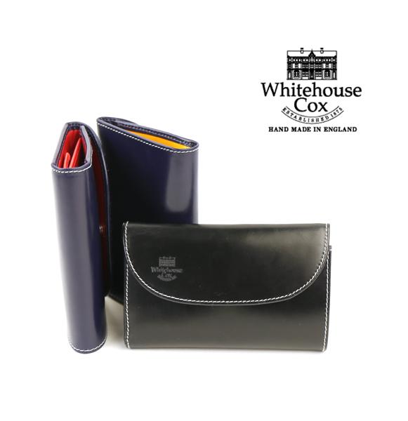 【ホワイトハウスコックス Whitehouse Cox】ブライドルレザー ホリデーライン コンビカラー 三つ折り財布 ウォレット・S7660-H-1831801【メンズ】【レディース】