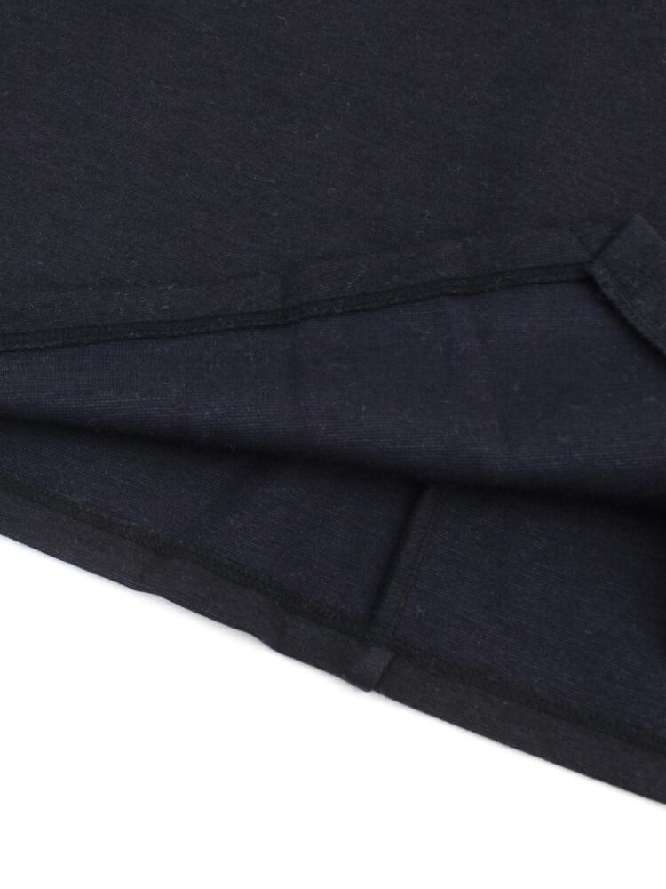 ププラ PUPULA ウール混 裾切替 長袖 プルオーバー・373216 0141702 レディースlast 1tsxhCBQrd