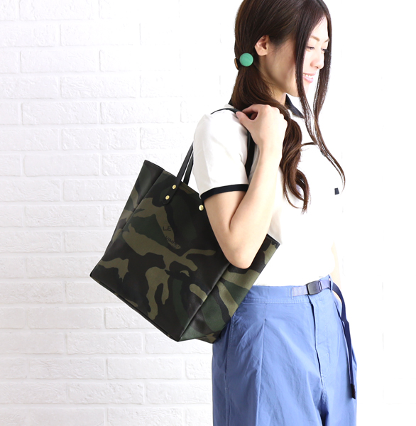 830e9568c Cotton PVC processing X leather camouflage pattern tote bag,  BM706191-0311801 ...