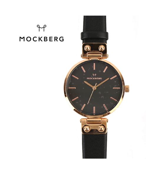 【モックバーグ MOCKBERG】レザーベルト ラウンド 腕時計 レディースウォッチ SIGRID BLACK 34mm・MO110-3171801【レディース】【1F-W】【■■】【クーポン対象外】