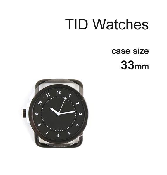 【ティッドウォッチズ TID Watches】 No.1 Collection 33mm 腕時計 文字盤 ブラックケース/ブラックダイアル・148433-3701801【メンズ】【レディース】【1F-W】【◎】