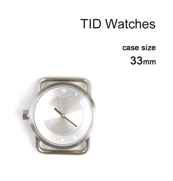 【ティッドウォッチズ TID Watches】 No.1 Collection 33mm 腕時計 文字盤 シルバーケース/シルバーダイアル・148434-3701801【メンズ】【レディース】【1F-W】