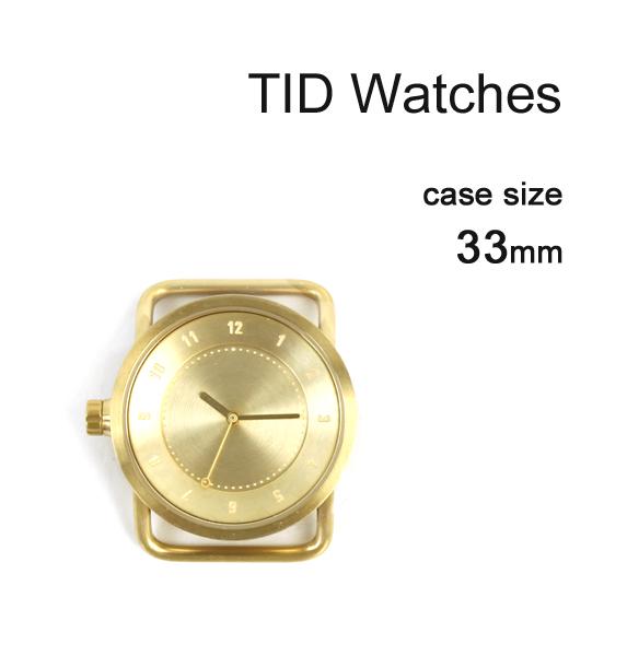 【ティッドウォッチズ TID Watches】 No.1 Collection 33mm 腕時計 文字盤 ゴールドケース/ゴールドダイアル・148435-3701801【メンズ】【レディース】【1F-W】【◎】