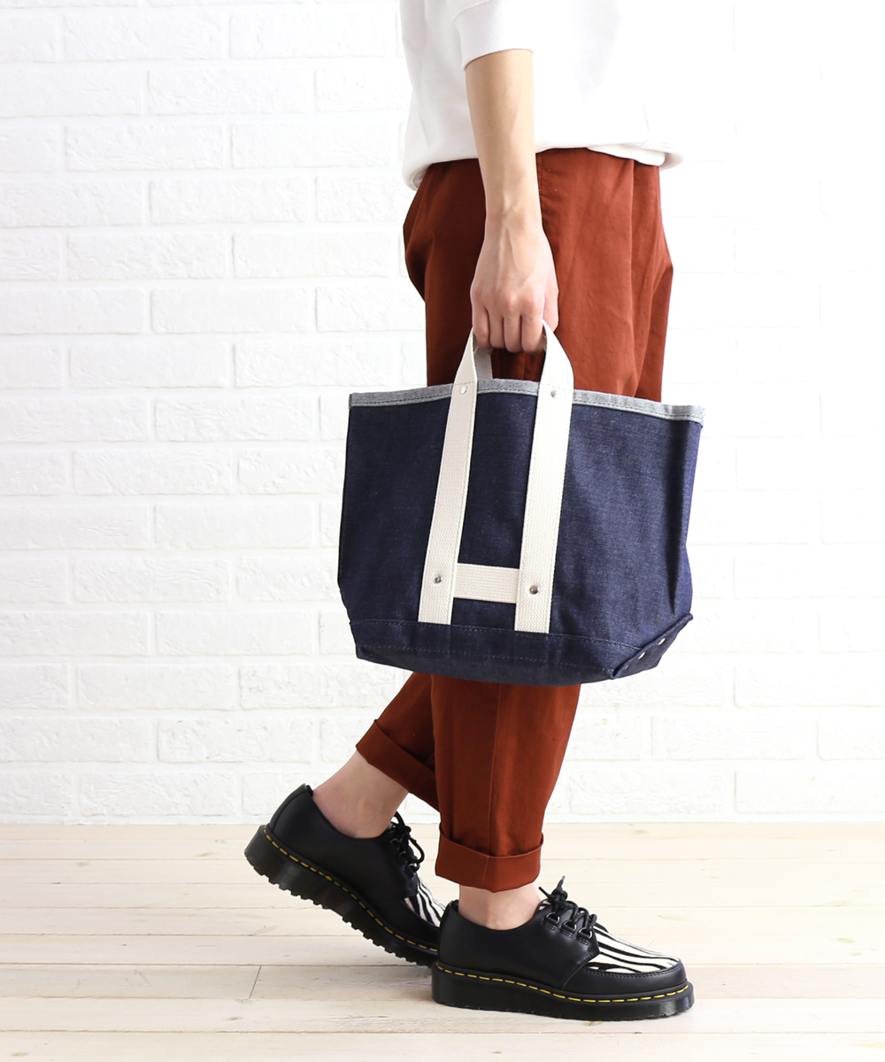 4da90bd3c Denim X canvas mini-tote bag rail man denim bag S, MC829-3281802 ...