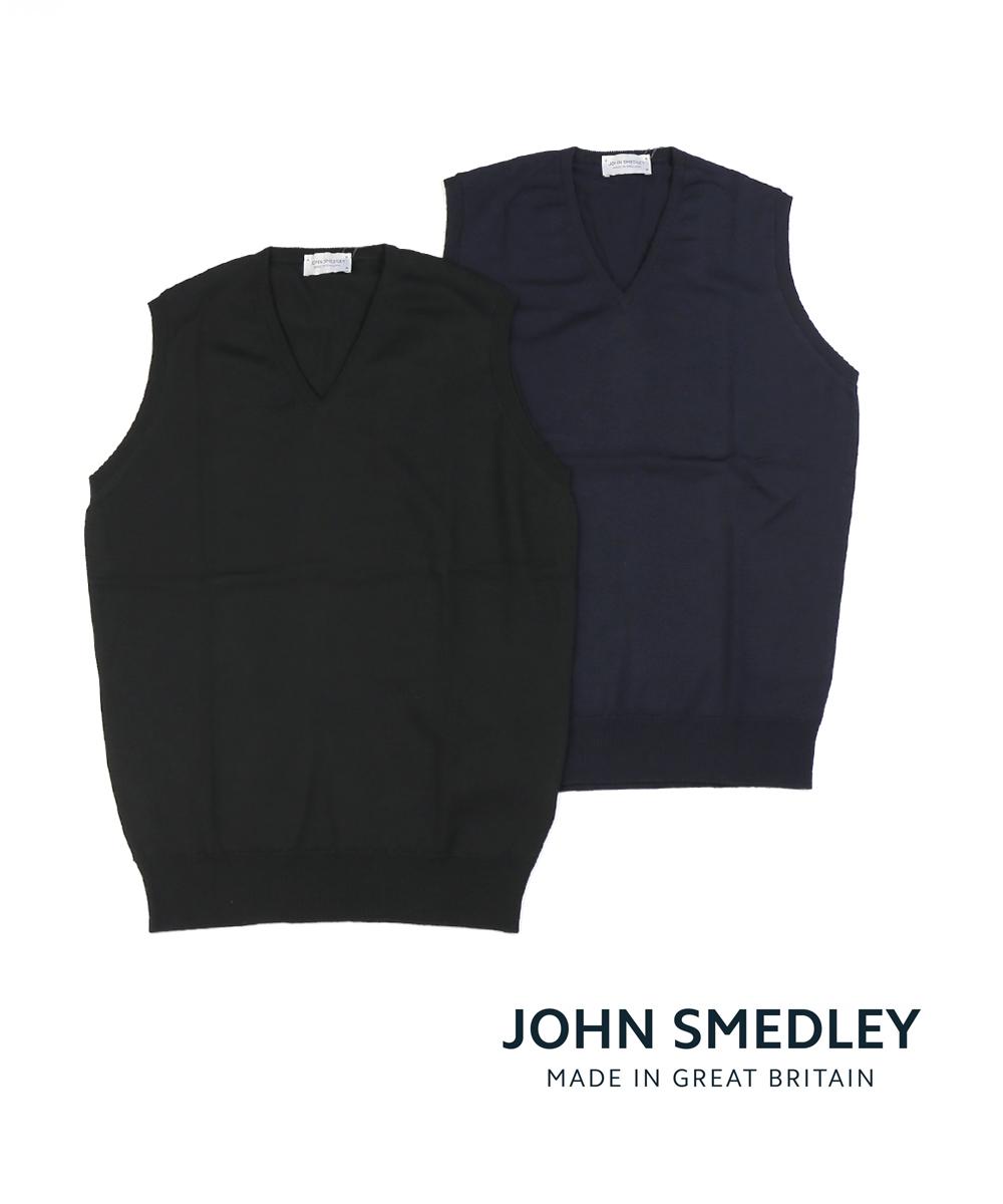 【20%OFFクーポン発行中!】【ジョンスメドレー JOHN SMEDLEY】メリノウール Vネック ニットベスト HADFIELD ハッドフィールド・HADFIELD-2851802【メンズ】【◎】