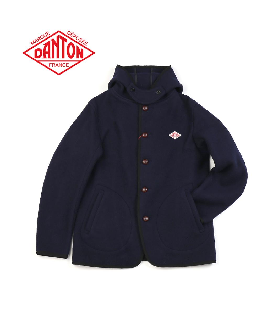 【ダントン DANTON】ウールモッサ メンズ シングル フードジャケット・JD-8455WOM-0321802【メンズ】【JP】