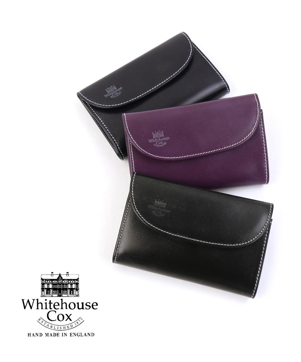 【ホワイトハウスコックス Whitehouse Cox】ブライドルレザー ホリデーライン コンビカラー 三つ折り財布 ウォレット・S7660-H-1831802【メンズ】【レディース】【JP】【★】