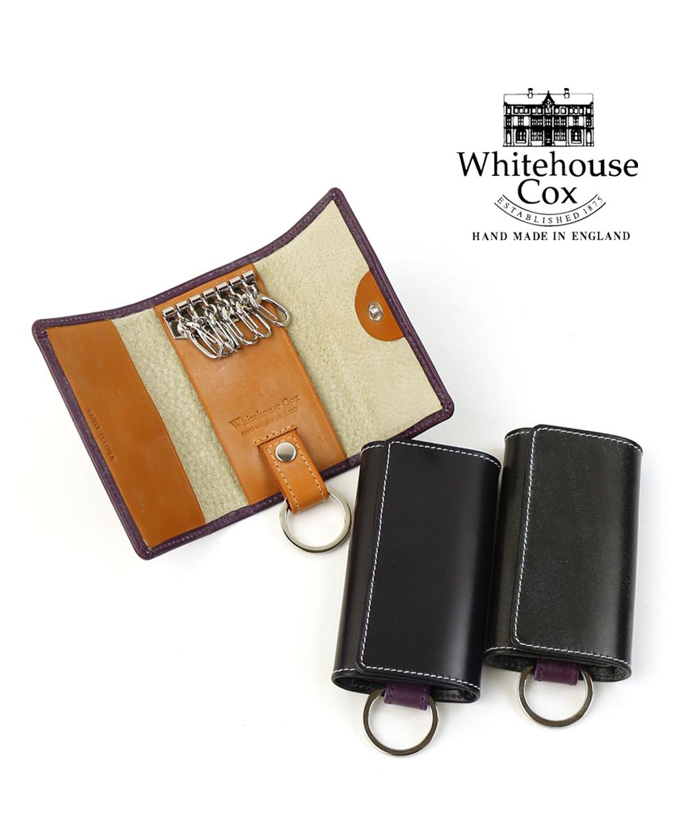 【ホワイトハウスコックス Whitehouse Cox】ブライドルレザー ホリデーライン コンビカラー スナップボタン キーケース・S9692-H-1831802【メンズ】【レディース】【JP】
