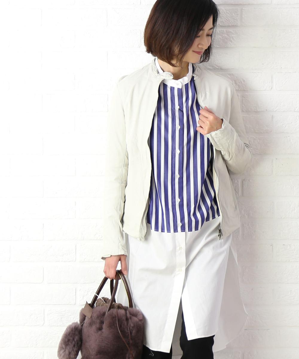 【シシ Sisii】カウレザー シングル レザージャケット ライダースジャケット・907JL-2821802【レディース】【JP】【◎】