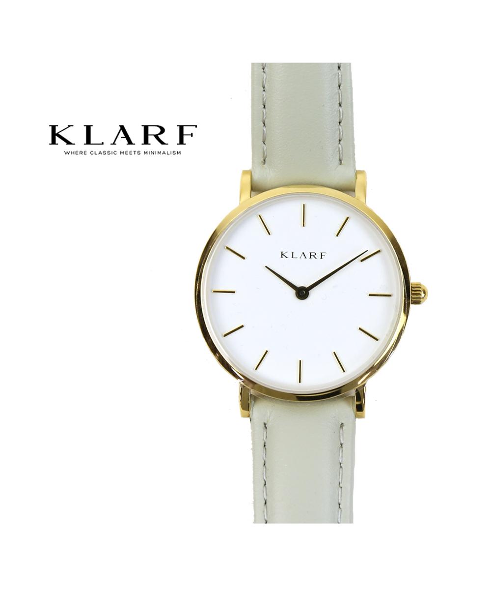 【クーポン利用で30%OFF】【クラーフ KLARF】レザーベルト ラウンドフェイス 腕時計 レディースウォッチ プティ 33mm・K-1609-3731802【レディース】【1F-W】【◎】