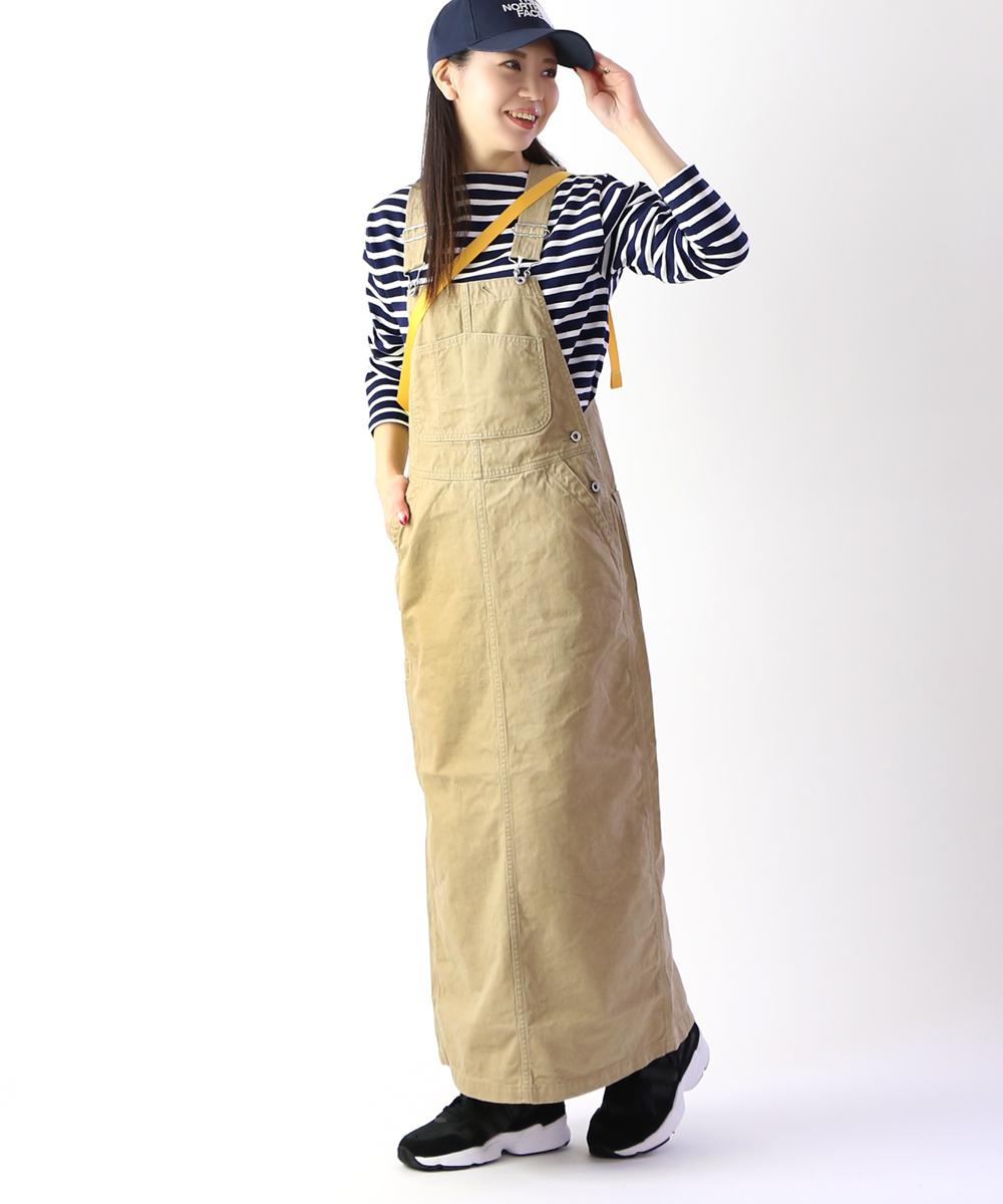【ドミンゴ D.M.G】コットンチノ ジャンパースカート・17-411T-1271901【レディース】