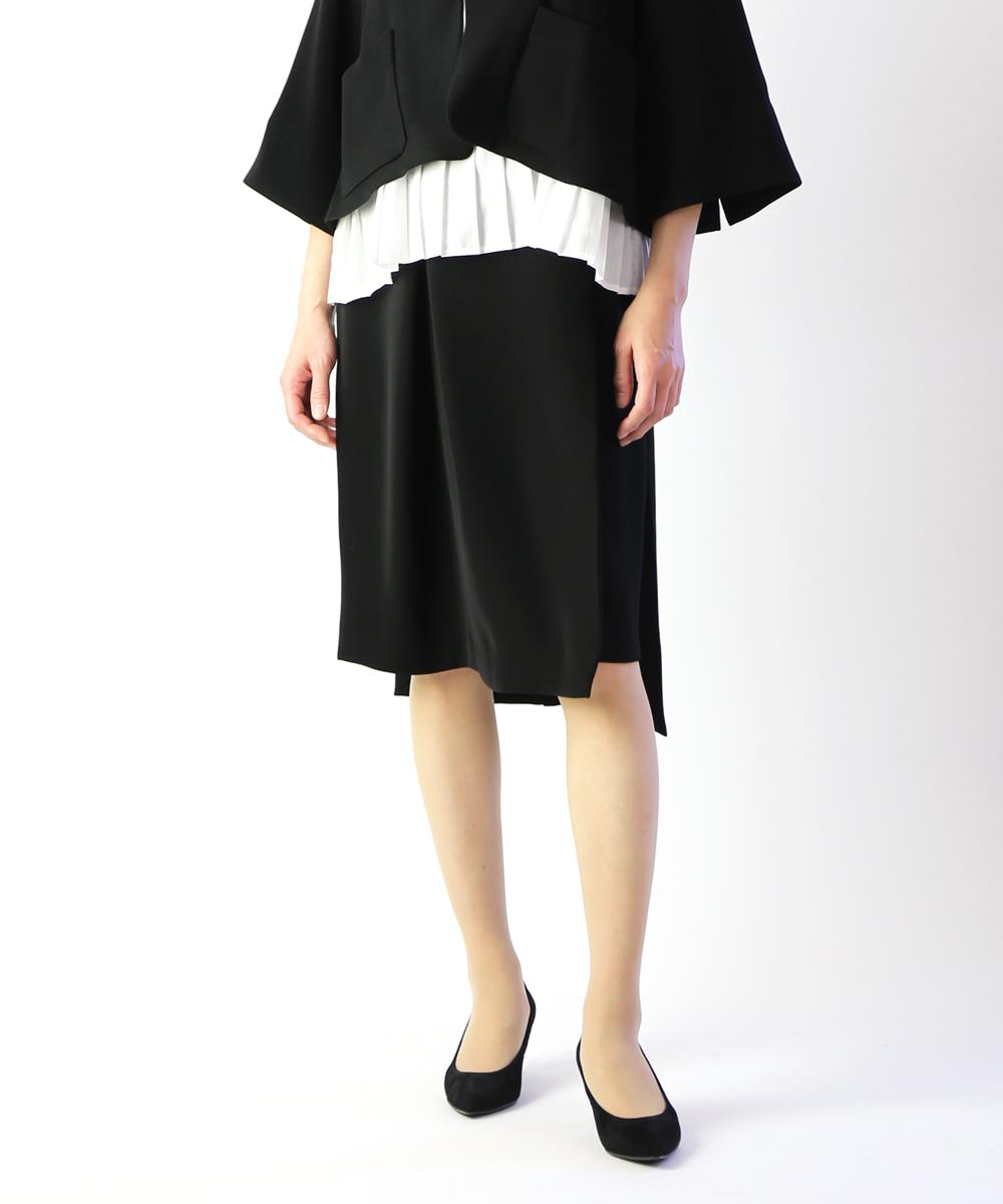 【ホワイト WHYTO.】ダブルクロスサテン Iラインスカート・WHT17HSK1-1571901【レディース】【2F】