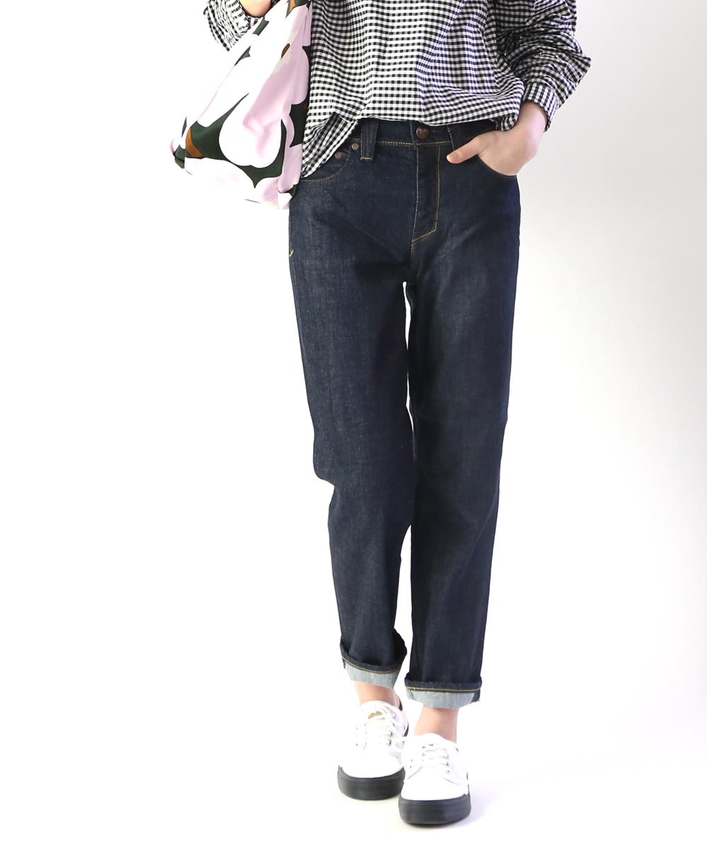 【ヤヌーク YANUK】コットンストレッチ ストレートデニムパンツ ジーンズ ANNETTE アネット・57191010-0361901【レディース】