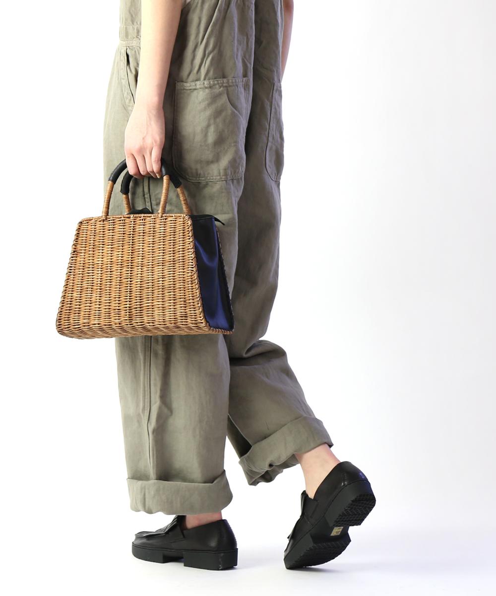 【バグマティ The Bagmati】ウィッカー×レザー 台形 かごバッグ ハンドバッグ ・BBK18-03-0241901【レディース】【◎】