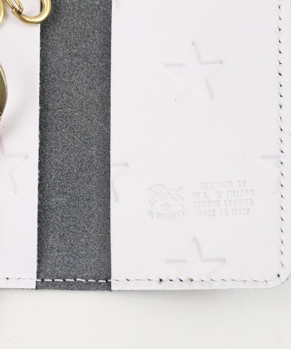 【イルビゾンテ IL BISONTE】日本限定 配色レザー リング付き キーケース・54192305590-0061901【メンズ】【レディース】【■■】【クーポン対象外】