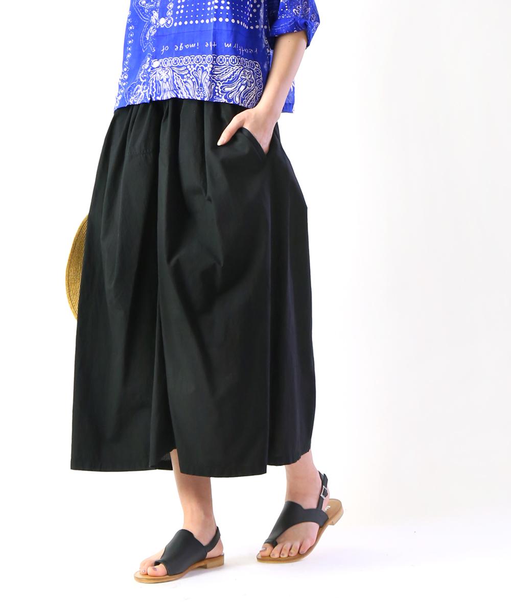 【ファクトリー FACTORY】ペルー綿 ギャザースカート・S-04-19SS-2711901【レディース】【◎】