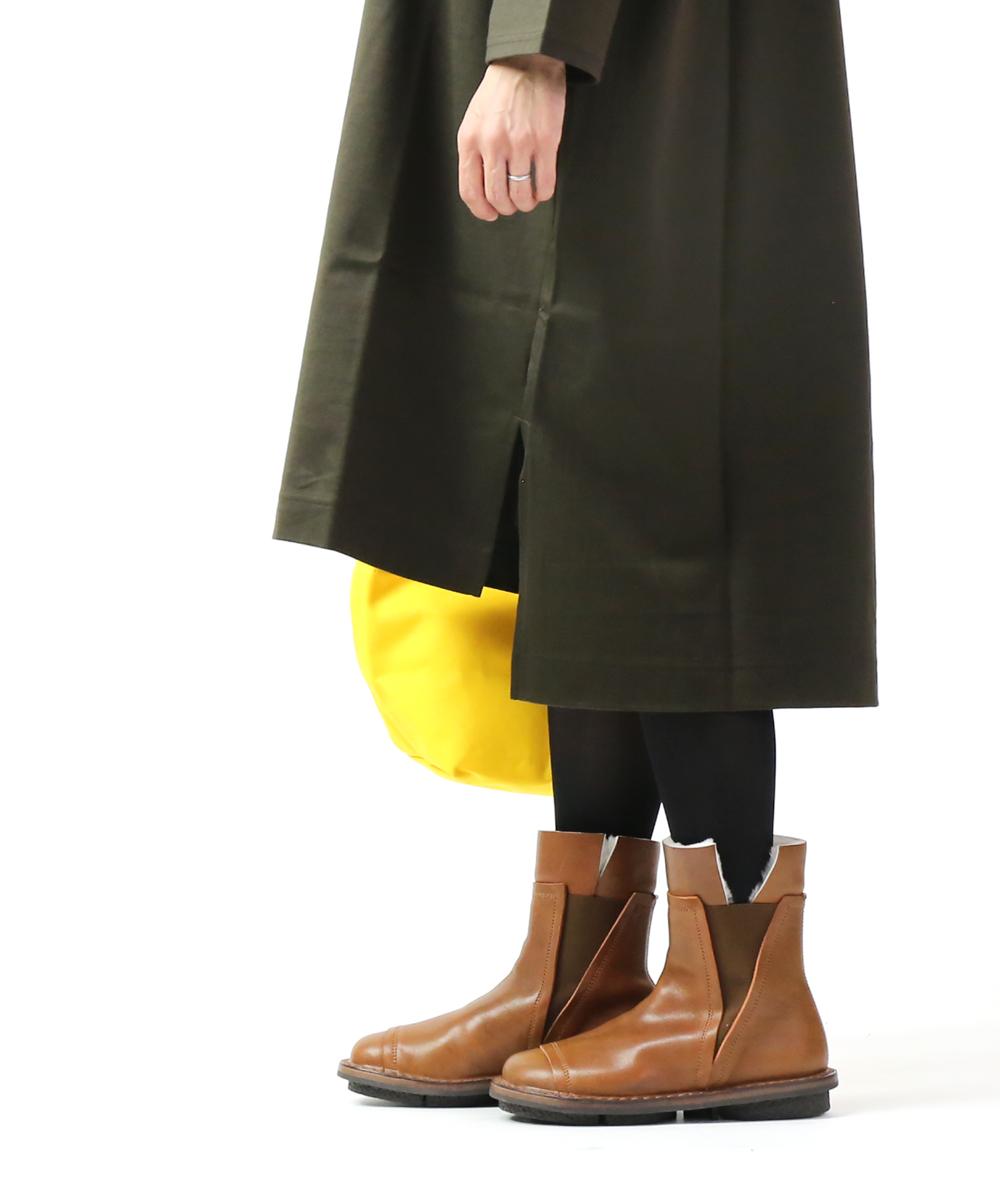 【トリッペン TRIPPEN】カーフレザー×シープスキン サイドゴア ショートブーツ ミドルブーツ プレファブ PREFAB・PREFAB-DP-M-0071902【レディース】【B-1】