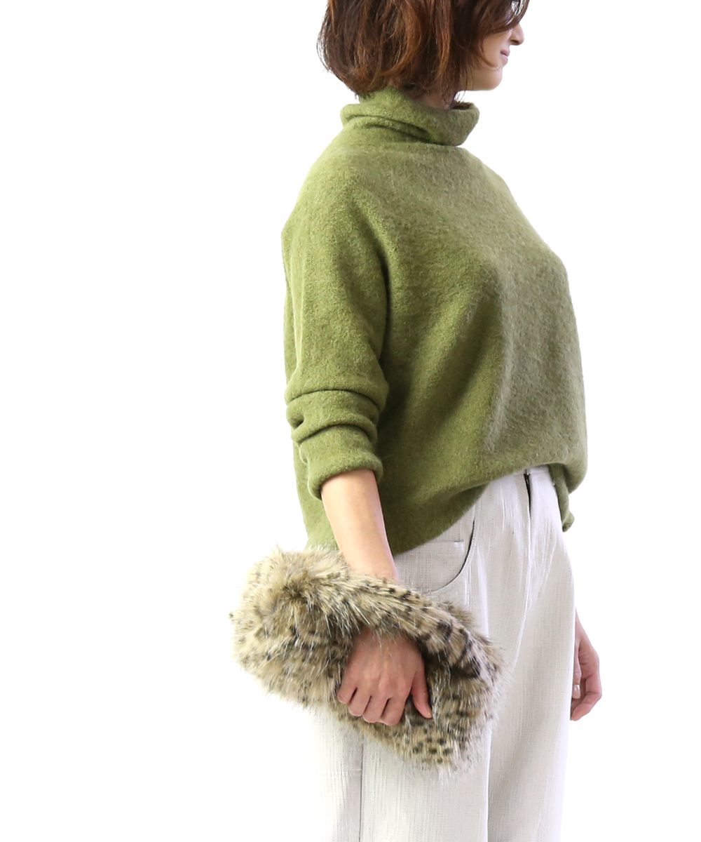 【ヘレンムーア helen moore】フェイクファー ワンハンドル ファーバッグ ハンドバッグ CYLINDER BAG W/FUR GRAB HANDLE・CYLINDER-0241902【レディース】