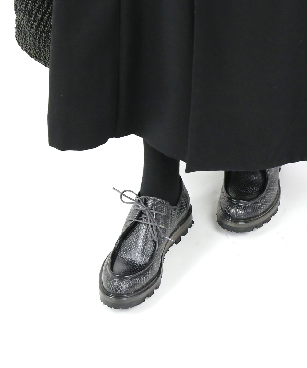 【ヴェリテクール Veritecoeur】by SHOTO ショト コラボシューズ カウハイド型押しレザー シューズ 靴 チロリアンシューズ・VC-2089-2421902【レディース】