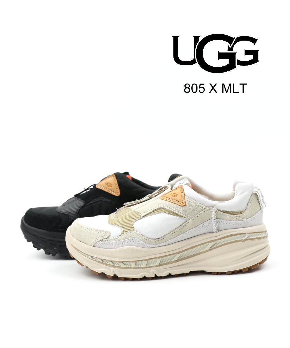 【アグ UGG】スエード ボンバーナイロン ボリュームソール ジップ スニーカー 805 X MLT TRAINER トレーナー・1104187-2542001【レディース】【◎】
