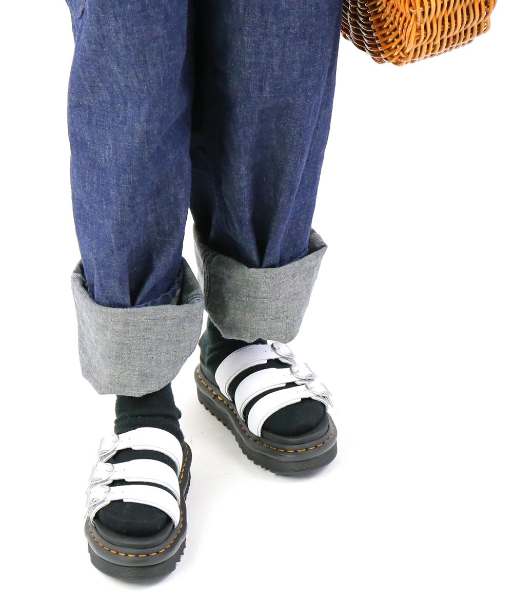 【ドクターマーチン Dr.Martens】レザー 3ベルト 厚底サンダル スポーツサンダル ブレアスライドハイドロ BLAIRE SLIDE HYDRO・BLAIRESLIDE-H-0242001【レディース】【■■】【クーポン対象外】