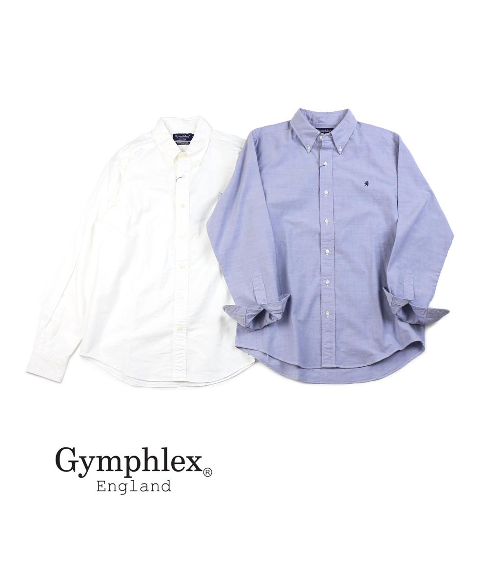 【ジムフレックス Gymphlex】コットンオックスフォード メンズ 長袖 ボタンダウンシャツ・J-0643YOX-0322002【メンズ】【JP】
