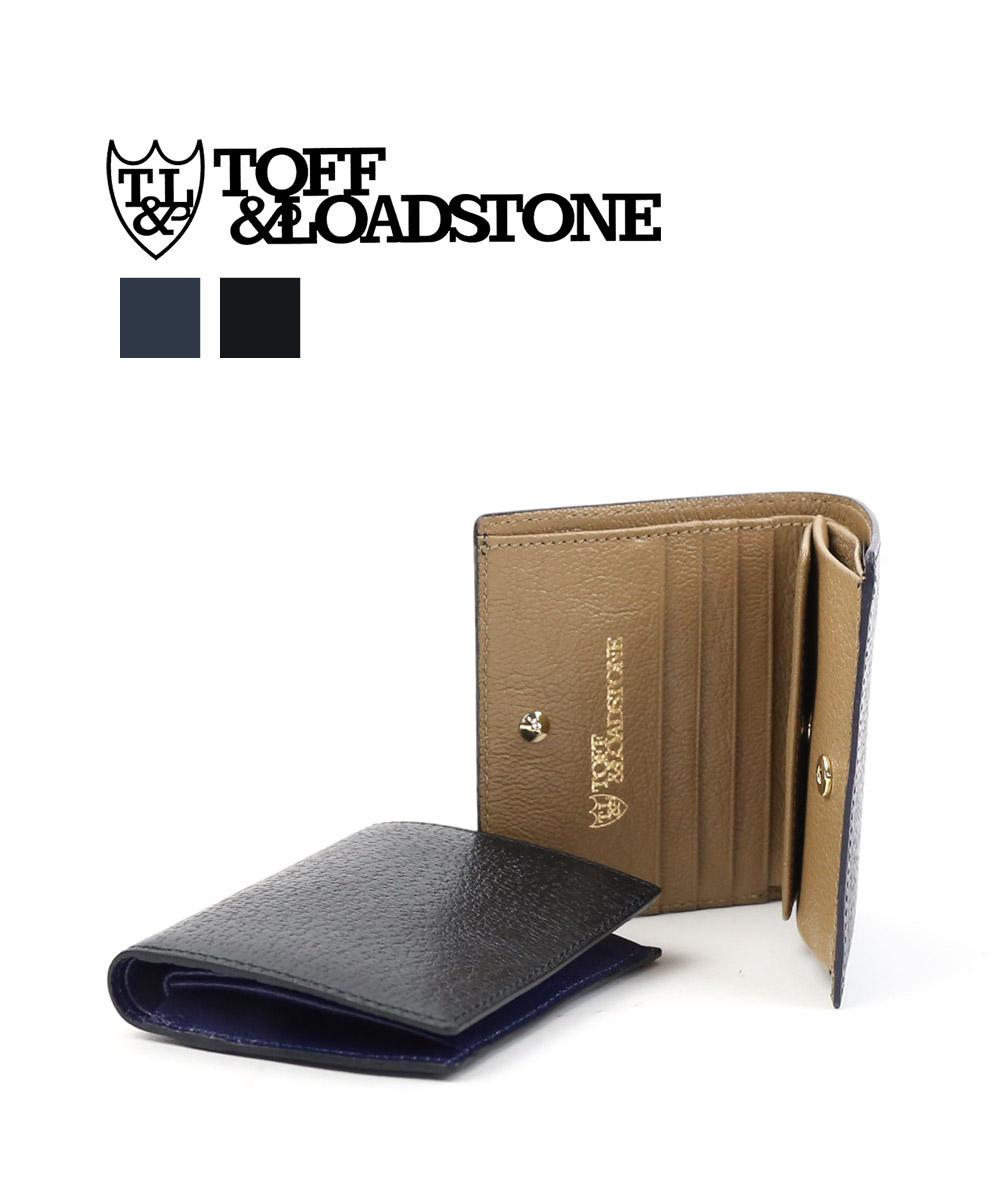 【トフアンドロードストーン TOFF&LOADSTONE】ペッカリー 型押し レザー 二つ折り財布 ミニウォレット Mini wallet Peccary・TMA-039-1471902【メンズ】【last_1】