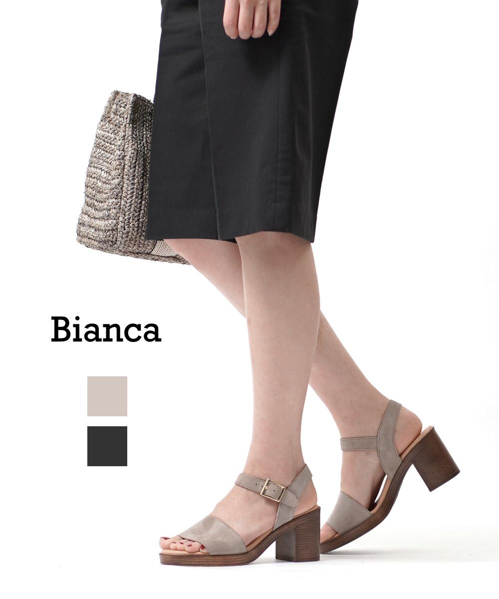 【30%OFF】【ビアンカ Bianca】スエード アンクルストラップサンダル レザーサンダル・5104-AF-0242001【レディース】