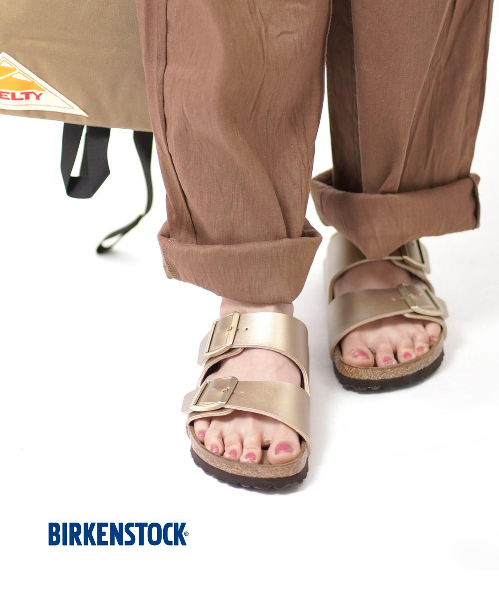 【C-2】【ビルケンシュトック BIRKENSTOCK】ビルコフロー ゴールド ダブルベルト サンダル ARIZONA アリゾナ・ARIZONA-GLD-0122001【レディース】