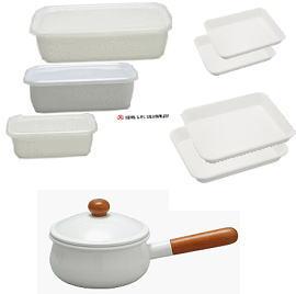 野田琺瑯 ベストセレクション・カジュアル8点セット(ソースパン、レクタングル、バット)