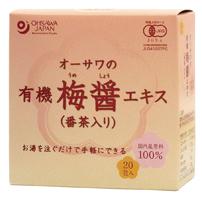 オーサワの有機梅醤エキス(番茶入り)分包 オーサワジャパン 180g(9g×20包)×6個