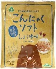 【送料無料(メール便)】サンコー こんにゃくソフト・しょうゆ味 17g ムソー muso