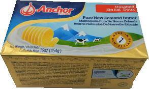 【マラソン・ポイント5倍】ニュージーランド産 グラスフェッドバター フォンテラ無塩ポンドバター454g【冷凍】