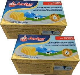 ニュージーランド産 グラスフェッドバター フォンテラ無塩ポンドバター454gx2個セット【冷凍】