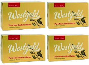 あす楽 NZ産 限定モデル グラスフェッドバター 250g×4個セット 新作通販 ウエストランド有塩バター