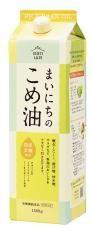 国産原料(玄米表皮・胚芽)から搾った安心な植物油です。 三和 まいにちのこめ油 1500gx3本セット ムソー muso