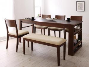 収納付 ダイニングセット ベンチ ダイニングテーブル 即納最大半額 伸縮 4人 6人 幅120-180 収納 伸縮テーブル チェア 6点セット レザー ディスカウント 合皮