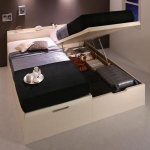 ベッド ベット 安全 収納付きベッド マットレス付き 収納 収納付 完売 跳ね上げベッド 深型 連結 大容量 薄型スタンダードボンネルコイルマットレス付 日本製 すのこベッド すのこ お客様組立 ワイドK200 縦開