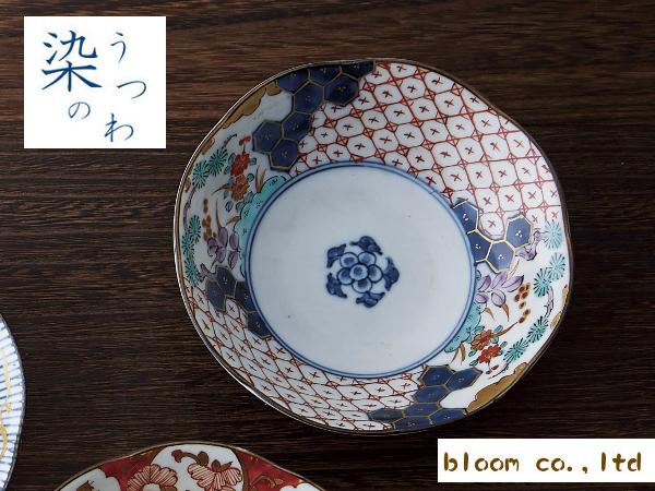特徴のある柄で食卓の彩りを鮮やかに☆毎日使っても飽きのこないナチュラルな和の器です 美濃焼 驚きの値段で 単売 ギフト対象外 間取錦草花中鉢 高価値 径16x高4.5cm bloom-plus made japan bowl in 染錦古伊万里
